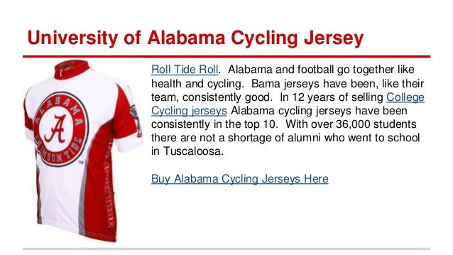 5efbe35ed University of Alabama Cycling Jersey ...