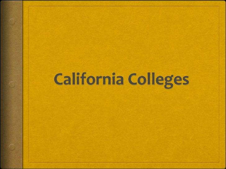 California Colleges<br />