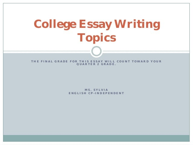 college essay powerpoint Revising the college essay writing is revising prepared by dr amy berry assistant professor southwestern minnesota state university 9/17/2011.