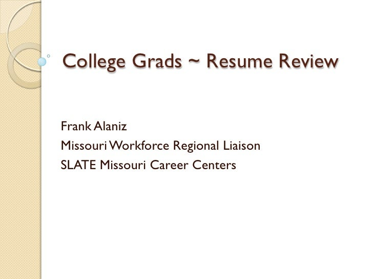 college grads resume review
