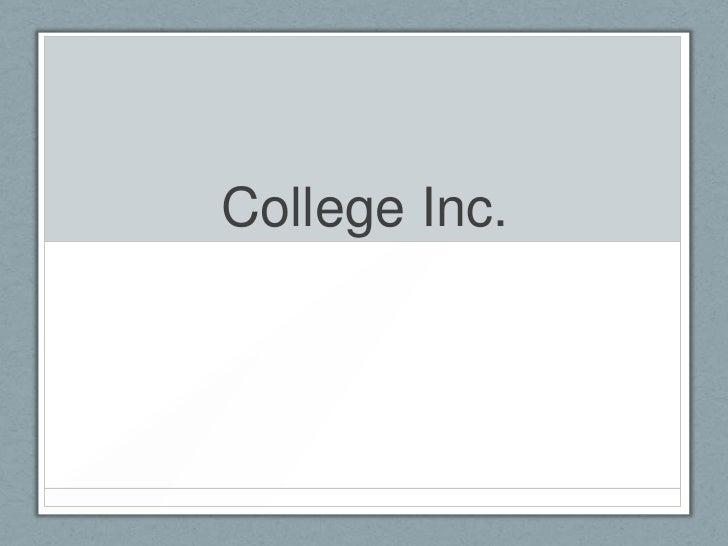 College Inc.