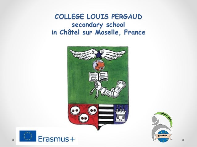 COLLEGE LOUIS PERGAUD secondary school in Châtel sur Moselle, France