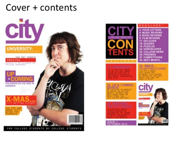 College Magazine Design Pwrpoint
