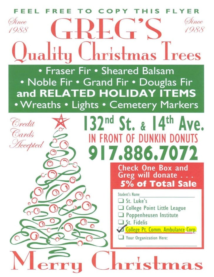 Christmas Fundraiser.Christmas Tree Fundraiser