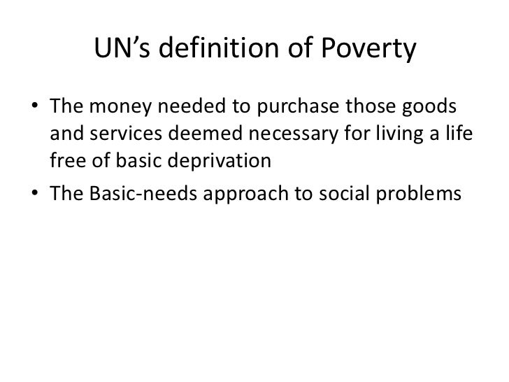 poverty as a social problem in The nature of poverty the problem is not lack of attention the world is waiting for a thinker who can describe poverty through the lens of social.