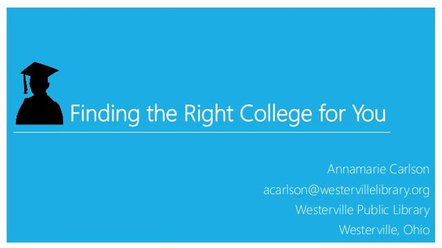 finding right college