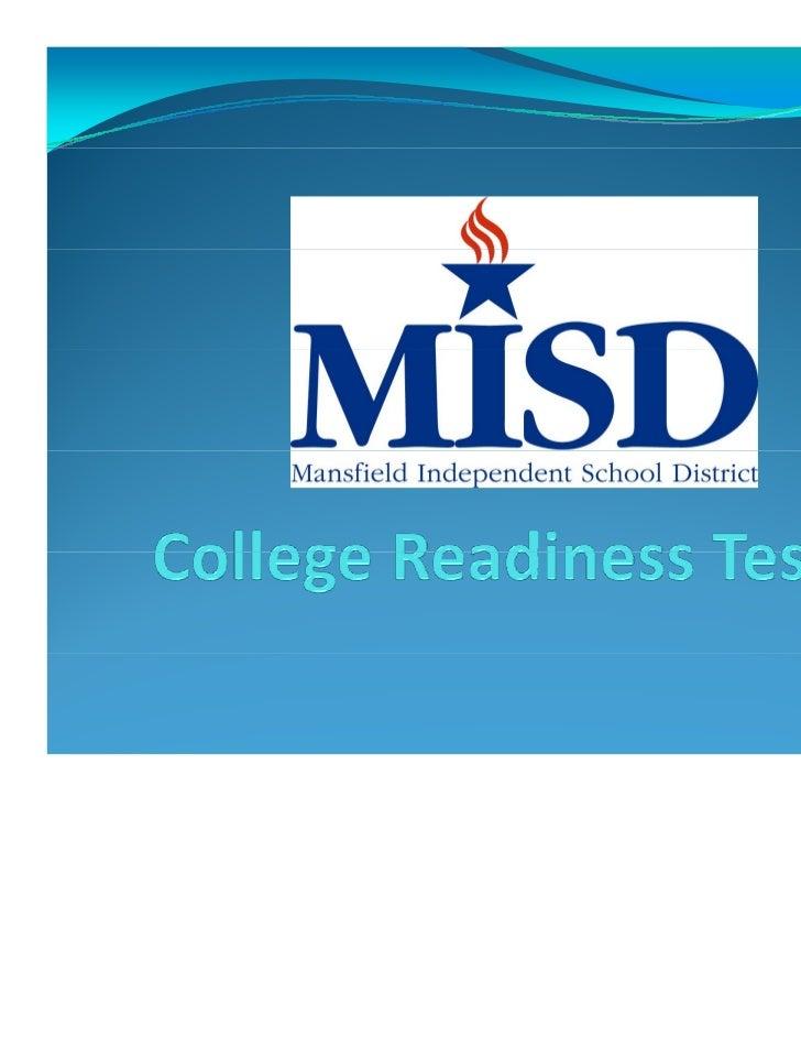 OctoberTesting  8th GradeReadiStep (CollegeBoard)  9th GradeACTPlan  10th GradePSAT  11th GradePSAT* *NMSQT– 1...