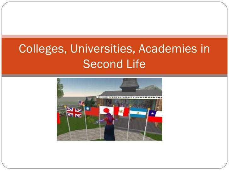 Colleges, Universities, Academies in Second Life