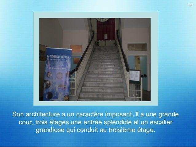 Au premier étage, il y a la salle de la technologie, la salle de la musique,la salle des arts plastiques et la salle de l'...