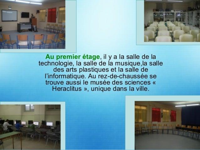 Au deuxième étage, il y a le bureau des professeurs, le bureau du directeur et des directeurs - adjoints, ainsi que le sec...