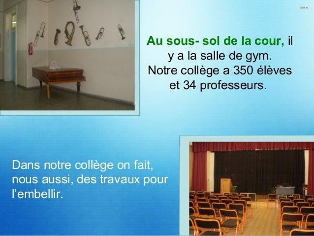 Sur la photo c'est notre professeur de français madame Théodoridou Roula avec le professeur de chimie dans le laboratoire ...