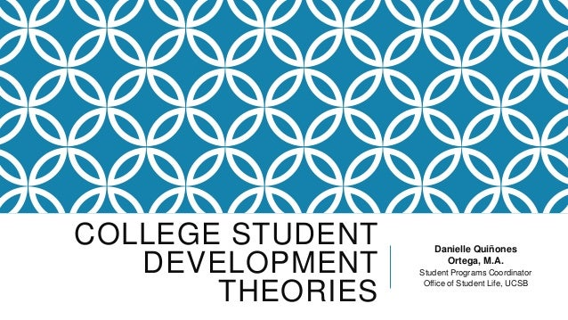 COLLEGE STUDENT DEVELOPMENT THEORIES  Danielle Quiñones Ortega, M.A. Student Programs Coordinator Office of Student Life, ...