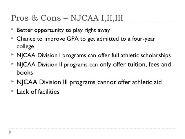 athletic scholarships pros and cons