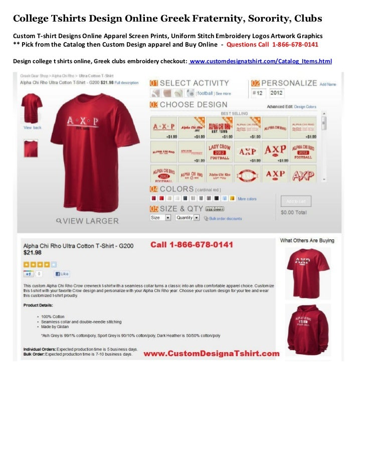 College Tshirts Design Online Greek Fraternity, Sorority, ClubsCustom T-shirt Designs Online Apparel Screen Prints, Unifor...
