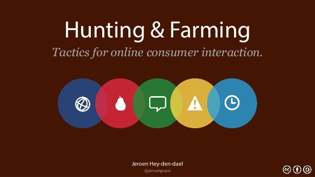 Hunting & FarmingTactics for online consumer interaction.               Jeroen Hey-den-dael                   @jeroenpaco