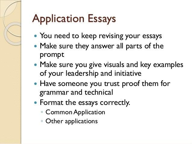 application essays - Common Application Essay Format