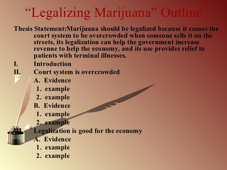 marijuana legalization thesis statement