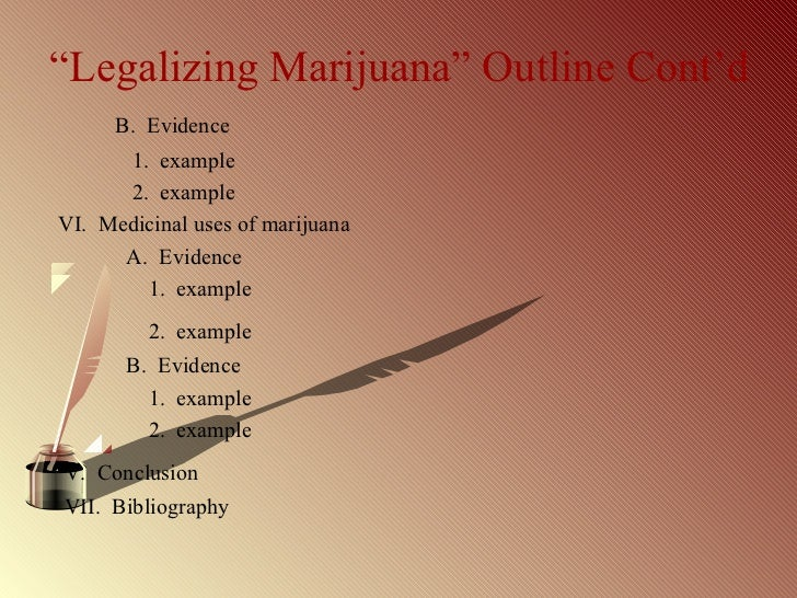 why should marijuanas be legal persuasive speech outline
