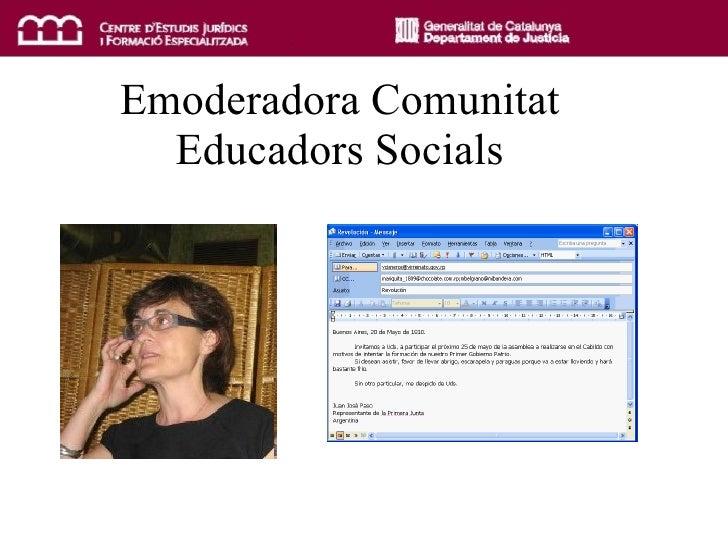Emoderadora Comunitat Educadors Socials