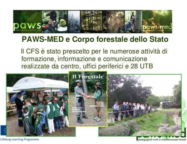 PAWS-MED e Corpo forestale dello Stato Il CFS è stato prescelto per le numerose attività di formazione, informazione e com...