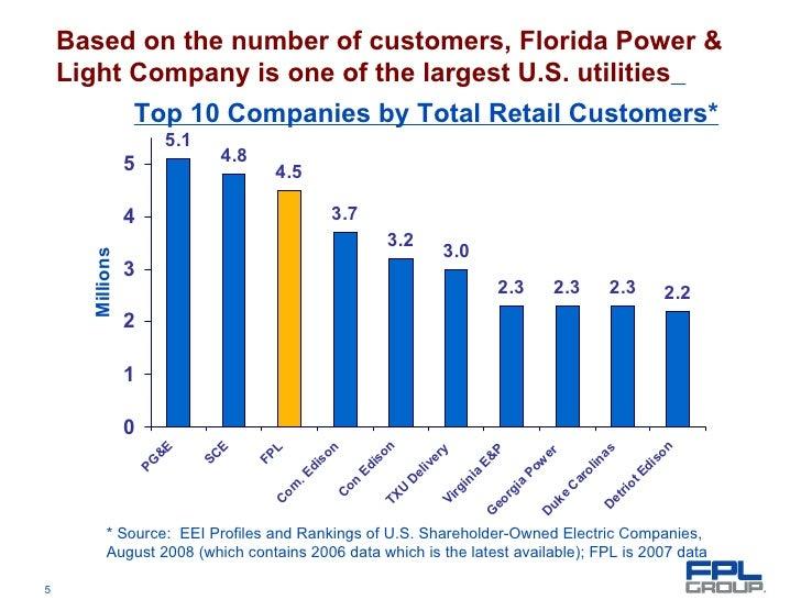 ... Florida Power U0026 Lightu0027s Service Territory; 5.