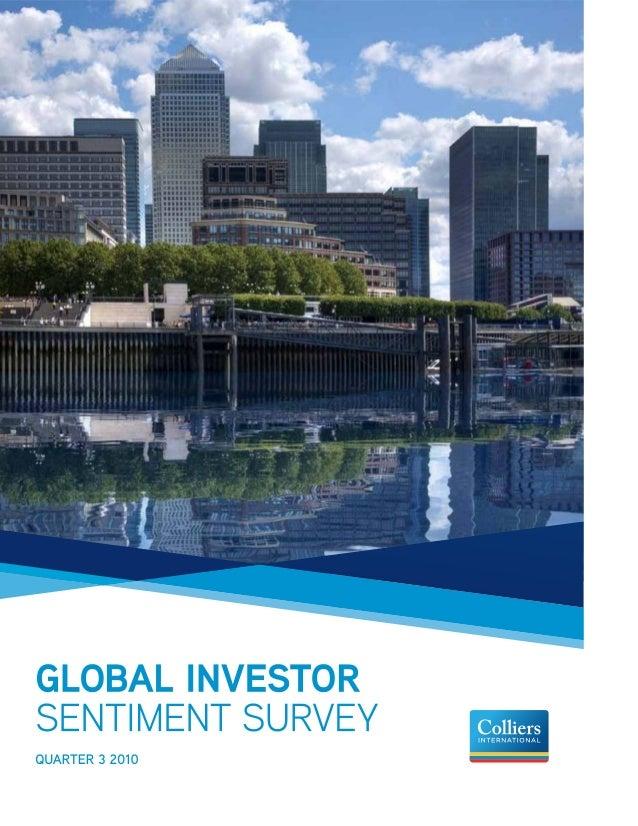 Colliers Global Investor Sentiment Survey 3 Q 10