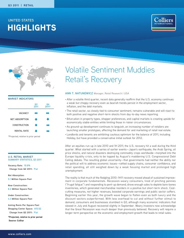 Q3 2011 | RETAILUNITED STATESHIGHLIGHTS                                               Volatile Sentiment Muddies          ...