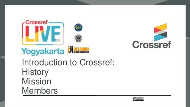 Introduction to Crossref: History Mission Members