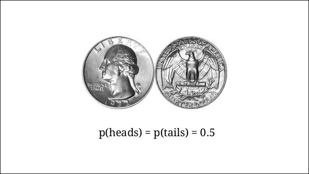 Tossing the Coin 0 10 20 30 40 50 0.00.20.40.60.81.0 Number of flips ProportionofHeads Heads Tails THTHTTTHHTHH…
