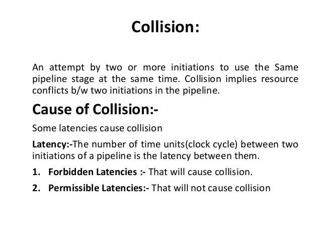 collision prevention on computer architecture