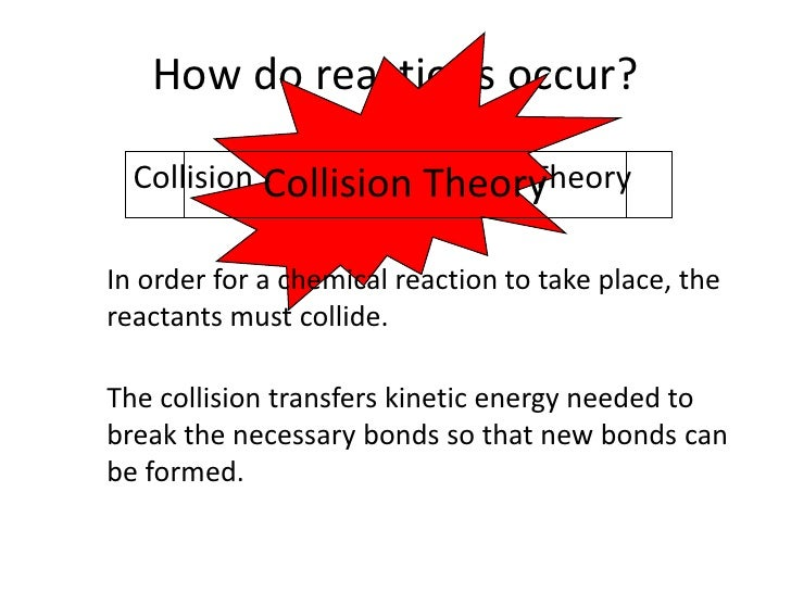 How do reactions occur?<br />Collision Theory<br />Collision Theory<br />Collision Theory<br />In order for a chemical rea...