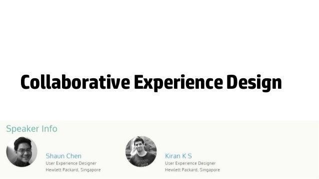 Collaborative Experience Design