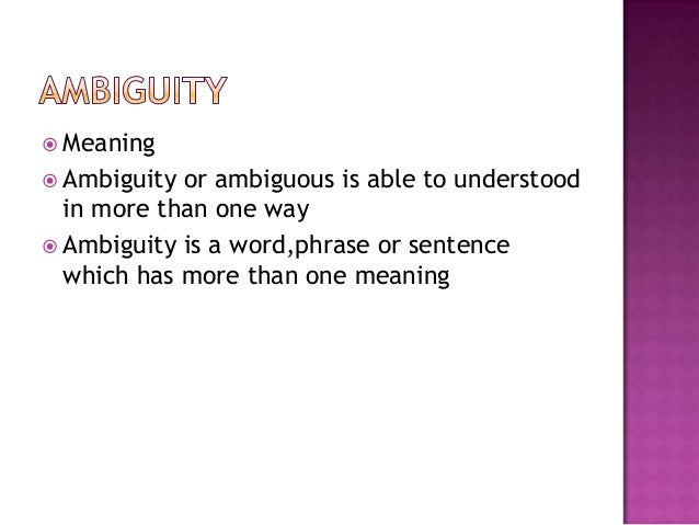Collocation and ambiguity(2)