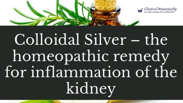 kolloidalt silver inflammation