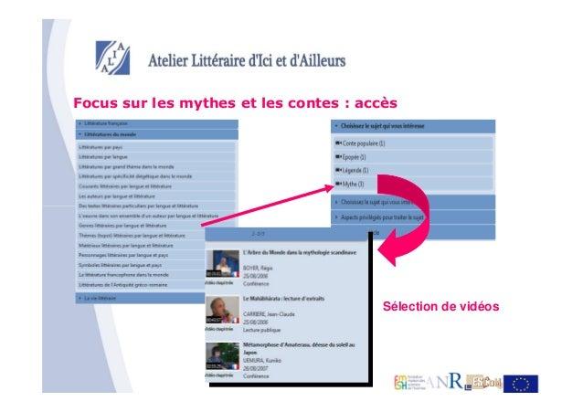 Focus sur les mythes et les contes : accès                                        Sélection de vidéos