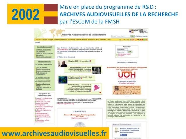 """Présentation de l'ESCoM-FMSH, Colloque """"Les universités à l'ère du numérique"""" Slide 3"""