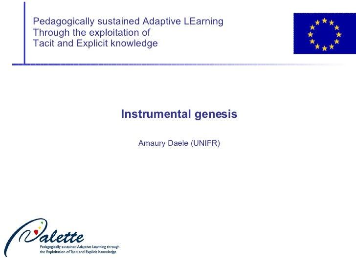 Instrumental genesis main concepts