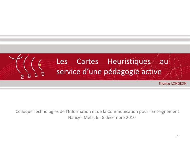 Les Cartes Heuristiques au service d'une pédagogieactive<br />1<br />