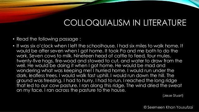 Colloquialism