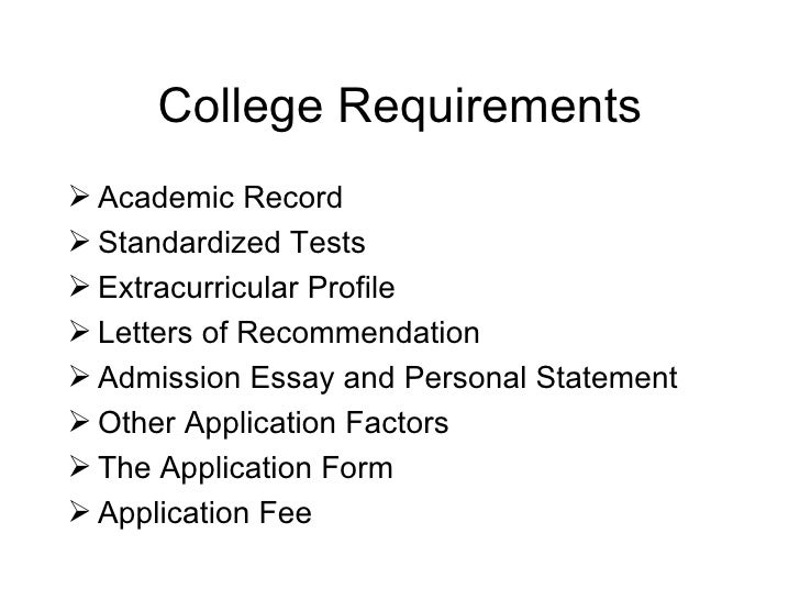 admission essay requirements Admission requirements our admission guidelines are designed to ensure you are well-prepared to succeed at uc if you're interested in entering the university of california as a freshman, you'll have to satisfy these requirements.