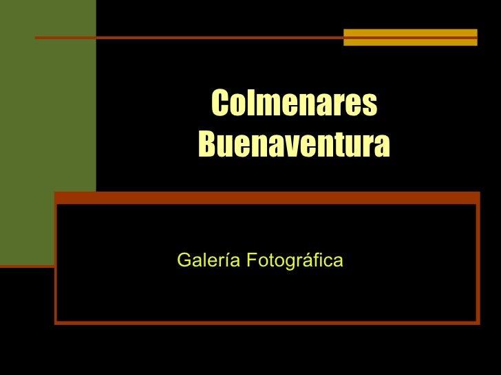 Colmenares Buenaventura Galería Fotográfica
