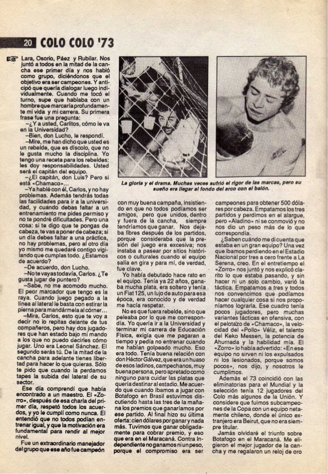 """Revista """"Colo colo 73"""""""