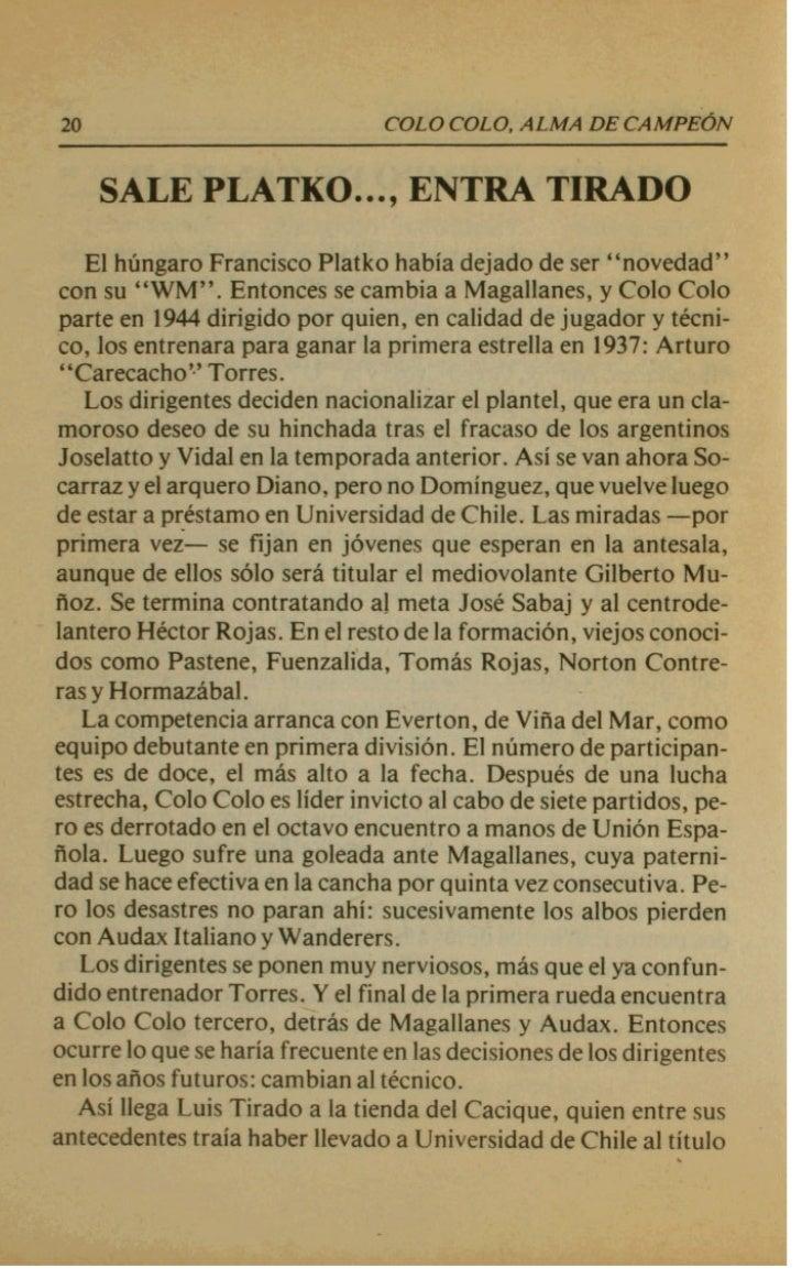 u                               COLO CVLO, ALMA DE CA   El  Colo      P r aprovechar la viada y tambitn el receso antes de...