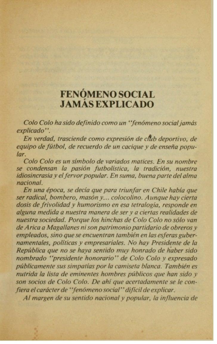 1925-1952               ERASE UNA VEZ UN CLUB               LLAMADO COLO COLO                                   ...       ...