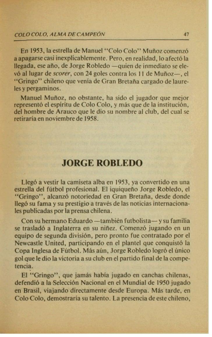 .   ,t   J   COLO COLO, ALMA DECAMPEON                                       51               El jugadar carioca conquistb...