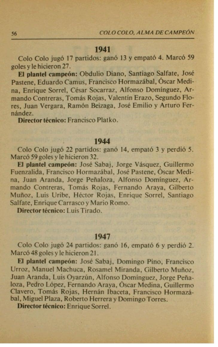 60                           COLO #LO, ALMA D E C A M P E ~ N                           lmi Csio Colo jug6 34 partidos: ga...