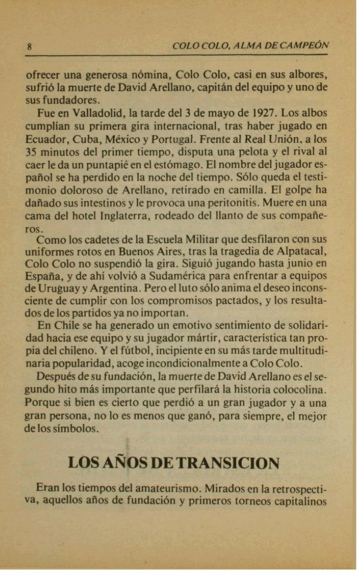 COLOCOLO, ALM~QWCAMPEON                                         ri             *. .Espafiola, Bhdminton, Audax Italiano, G...