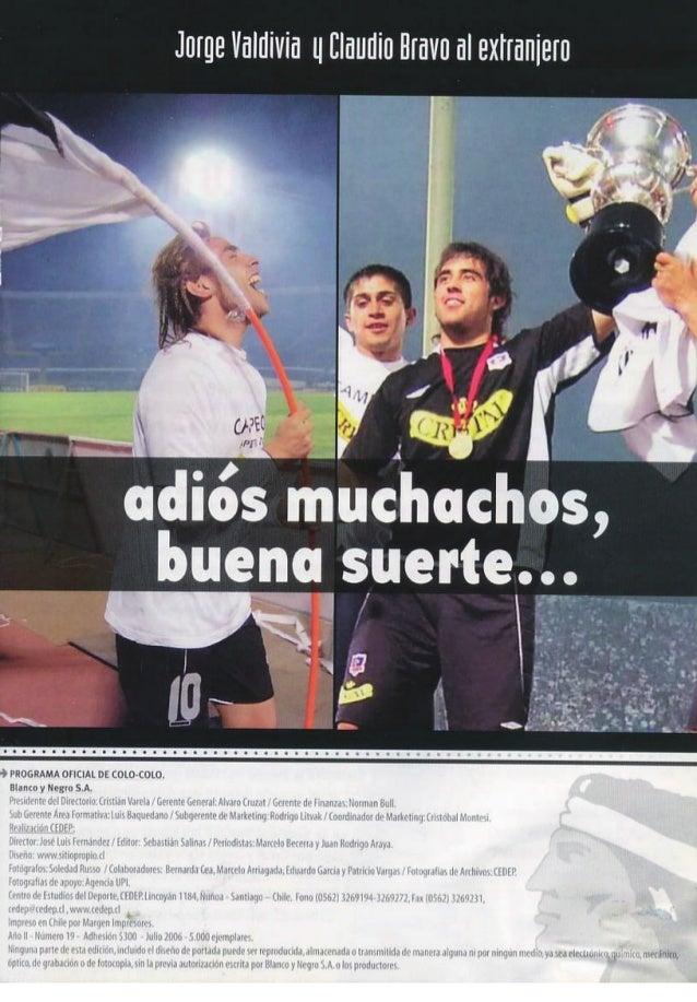 """Revista """"Colo-Colo campeón A.2006"""" Slide 2"""