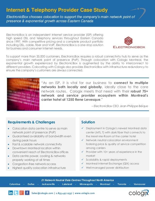 Cologix Internet & Telephony Provider Case Study