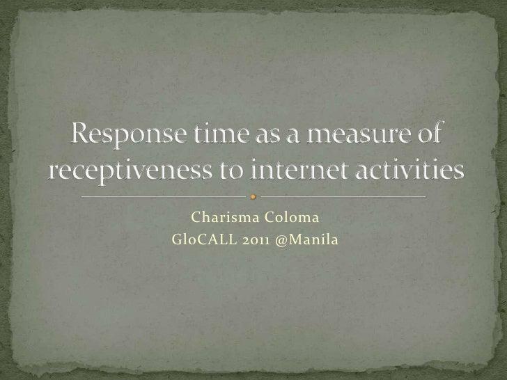 Charisma ColomaGloCALL 2011 @Manila